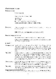 Curriculum Vitae Personal Data Martino Gagliardi Born 17/04/1980 ...