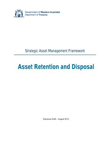 Asset Retention and Disposal - Department of Treasury Western ...