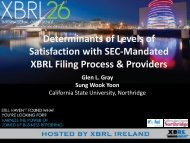 Determinants of Levels of Satisfaction with SEC-Mandated XBRL ...