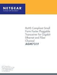 RoHS Compliant Small Form Factor Pluggable Transceiver - Netgear