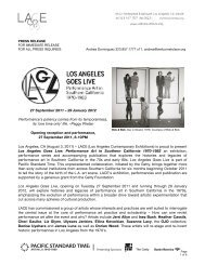 Los Angeles Goes Live press release - LACE