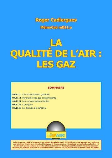LA QUALITÉ DE L'AIR : LES GAZ