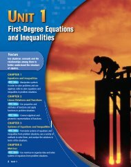 Chapter 1: Equations and Inequalities - Unit 5