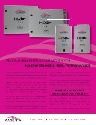 hd-one delivers real performance hd-one dx & lx - Magenta Research