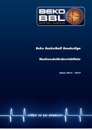 Beko BBL-Nachwuchsförderrichtlinie 2013-2014 - Beko Basketball ...