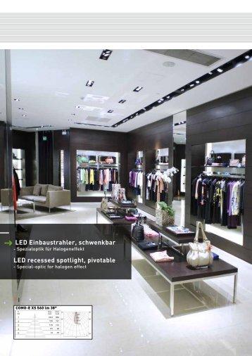 LED Einbaustrahler, schwenkbar LED recessed spotlight, pivotable