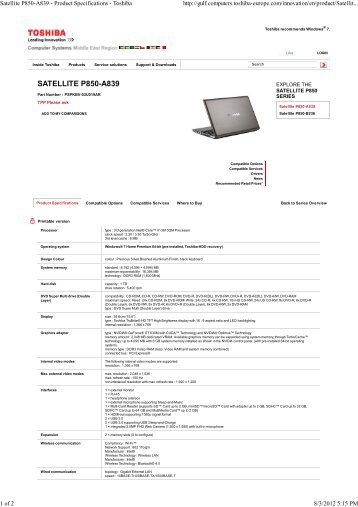 TOSHIBA SATELLITE C850-A976 DRIVER FOR WINDOWS MAC