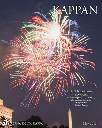 May 2013 Issue - Alpha Delta Kappa