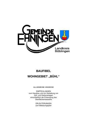 "baufibel wohngebiet ""bühl"" - Geonline GmbH"