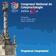 Congresul National de Coloproctologie Editia a -a - rscp.ro