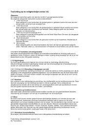 Toelichting op de lijst met veiligheidslijst versie 3.0
