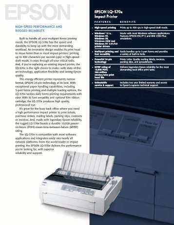 Epson LQ-570 Impact Wordstar 6.0 Printer Driver Windows