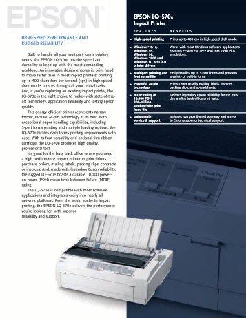 EPSON Lq-570e Impact Printer EPSON Lq-570e Impact Printer