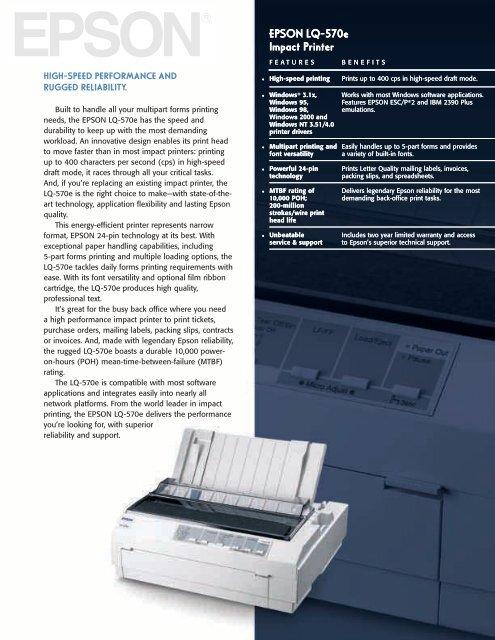 EPSON LQ-570 IMPACT NETWORK PRINTER WINDOWS 8 DRIVER