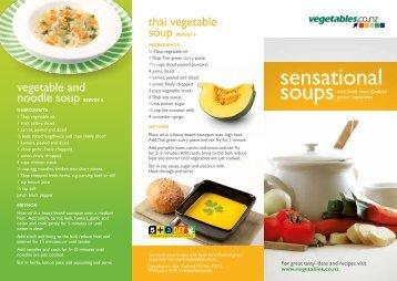 Sensational soups - recipes leaflet preview