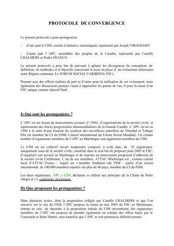Protocole de convergence - Contacter un comité local d'Attac