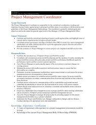 Project Management Coordinator - Kingston Canada - Live & Work