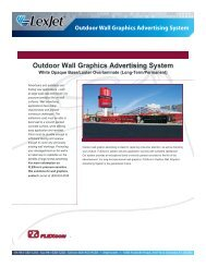 Outdoor Wall Graphics Advertising System - LexJet