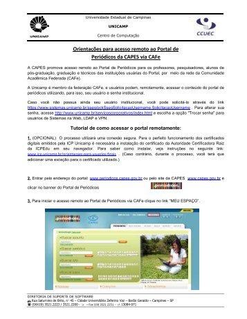 consulte o tutorial - Centro de Computação - Unicamp