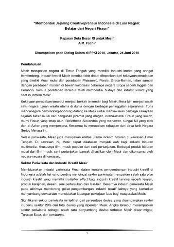 """""""Membentuk Jejaring Creativepreneur Indonesia ... - Indonesia Kreatif"""