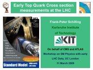 Top cross section measurements - of Frank-Peter Schilling - CERN