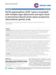 4G/5G polymorphism of PAI-1 gene is associated with ... - Critical Care