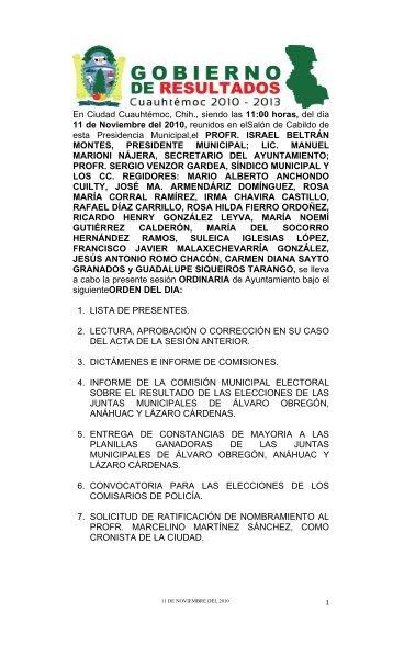 En Ciudad Cuauhtémoc, Chih - Municipio de Cuauhtemoc