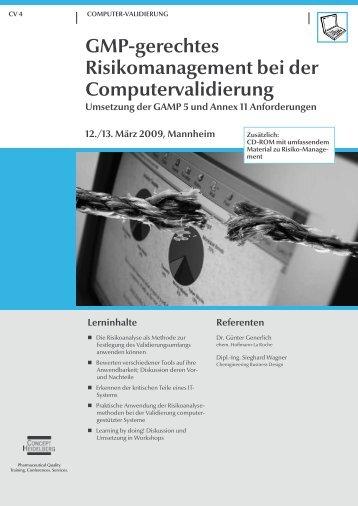 GMP-gerechtes Risikomanagement bei der ... - GMP-Navigator