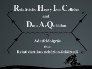 Relativistic Heavy Ion Collider and Data AcQuisition Adatfeldolgzás ...