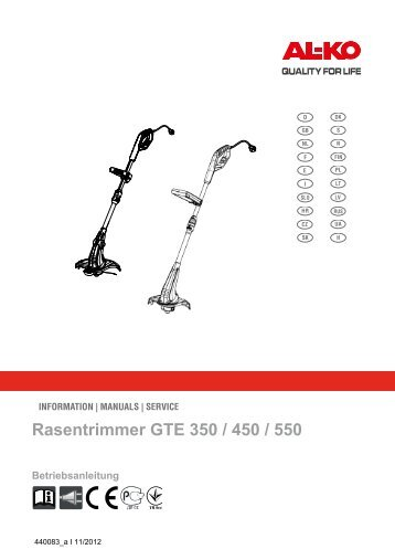 Rasentrimmer GTE 350 / 450 / 550 - Al-ko