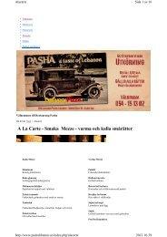 A La Carte - Kvartersmenyn.com