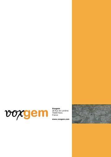 Voxgem Business Plan - Finance Innovation