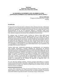 Seminario Gobierno Local y Desarrollo. Barcelona, 28 y 29 de ...