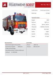 HLF 16 / 20 / 2 - Feuerwehr Soest