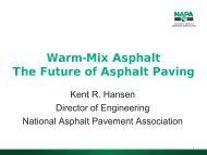Warm-Mix Asphalt The Future of Asphalt Paving - AASHTO ...
