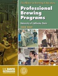 Professional Brewing Programs - UC Davis Extension