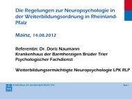 Frau Dr. Naumann - Landespsychotherapeutenkammer Rheinland ...