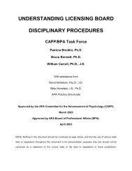 understanding licensing board disciplinary procedures - The Trust