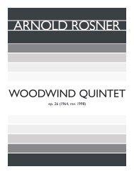 Rosner - Woodwind Quintet, op. 26