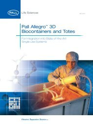 3d Biocontainers Brochure - Pall Corporation