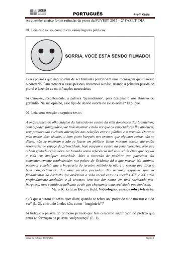 Gabarito da Apostila de Português - liceu.net