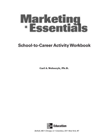 School-to-Career Activity Workbook - McGraw-Hill Higher Education