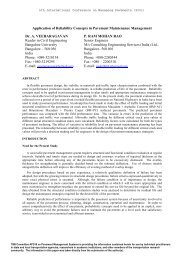 Application of Reliability Concepts in Pavement Maintenance ...