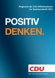 positiv denken. - CDU Wilhelmshaven