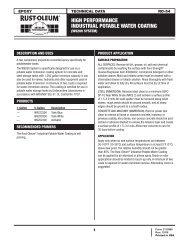 high performance industrial potable water coating - Rust-Oleum