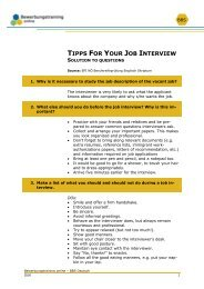 Tipps for Job interview_Solution.pdf - Bewerbungstraining Online