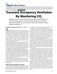 Transient Occupancy Ventilation By Monitoring CO - DOAS - Penn ...