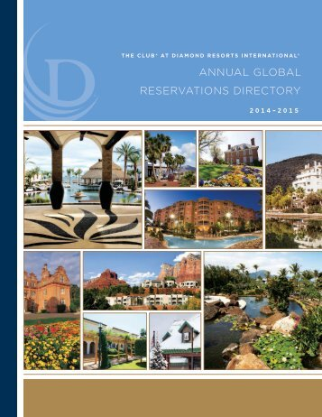 annual global reservations directory - Diamond Resorts International