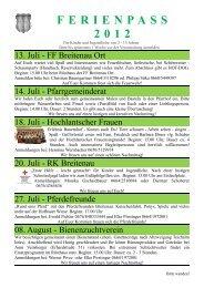 FERIENPASS 2012 - Breitenau am Hochlantsch