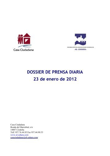DOSSIER DE PRENSA DIARIA 23 de enero de 2012 - ISOTools